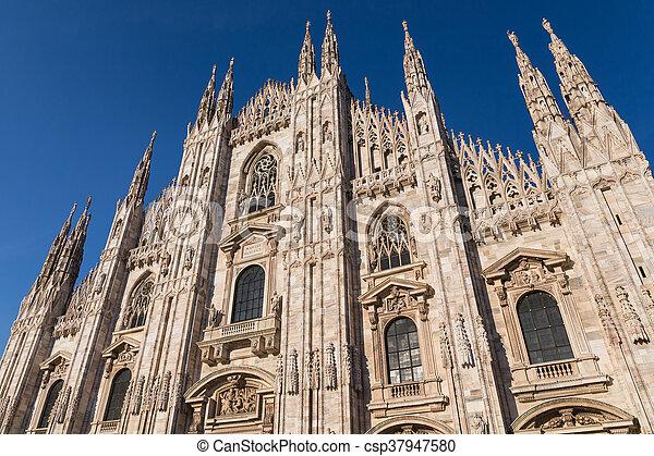 Duomo Cathedral of Milan Italy - csp37947580