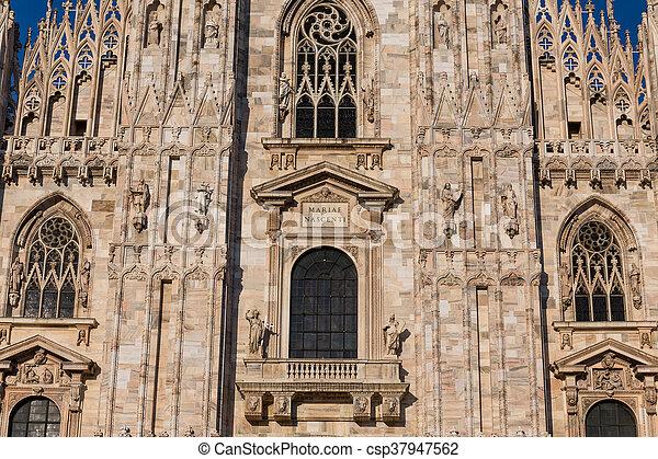 Duomo Cathedral of Milan Italy - csp37947562