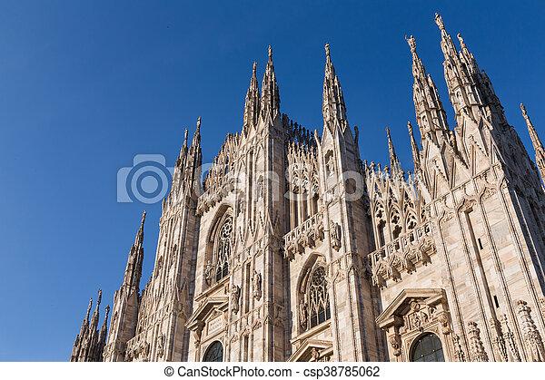 Duomo Cathedral of Milan Italy - csp38785062