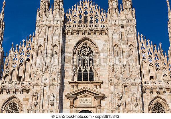 Duomo Cathedral of Milan Italy - csp38615343