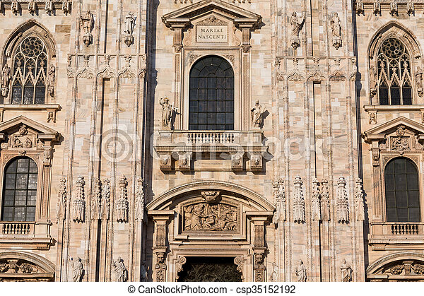 Duomo Cathedral of Milan Italy - csp35152192