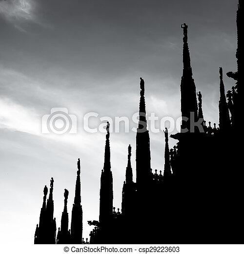Duomo Cathedral of Milan Italy - csp29223603