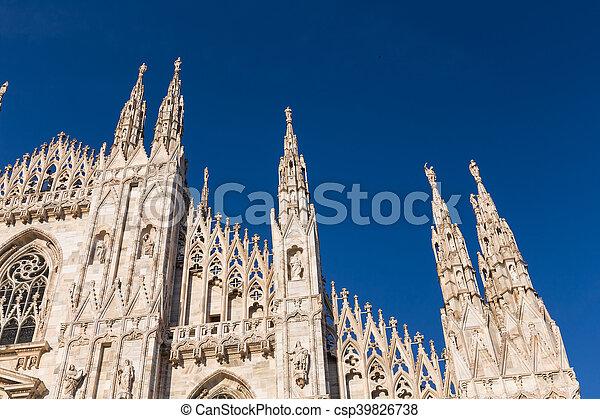 Duomo Cathedral of Milan Italy - csp39826738