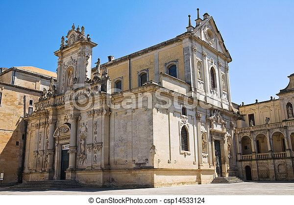 Duomo Church. Lecce. Puglia. Italy.  - csp14533124