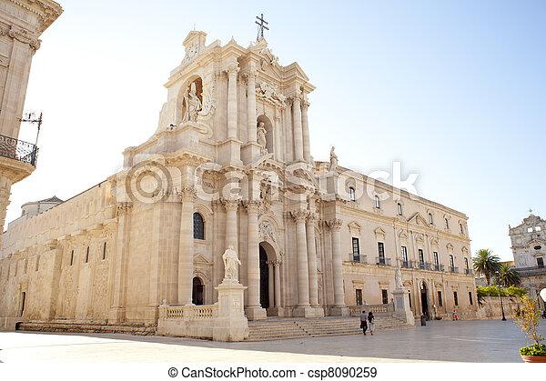 Duomo di Santa Lucia, Syracuse - csp8090259