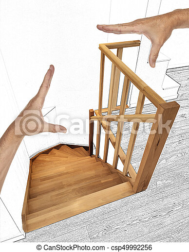 Duplex, bois, moderne, escalier, rénovation. Duplex, moderne ...