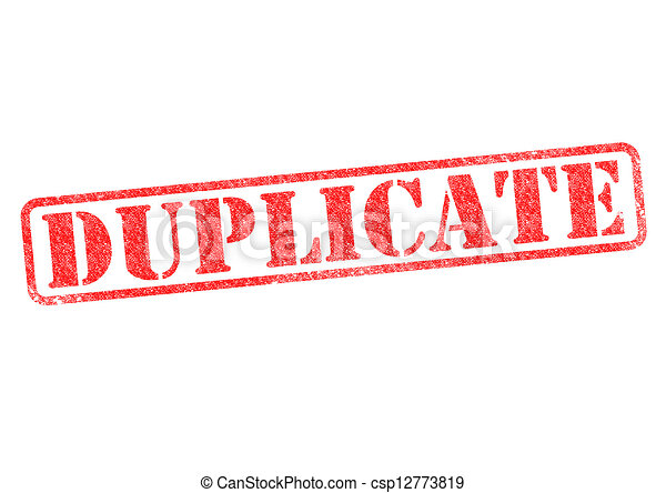 DUPLICATE - csp12773819