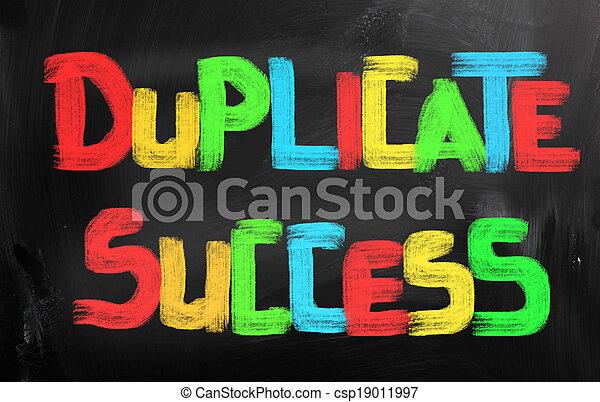 Duplicar el concepto de éxito - csp19011997