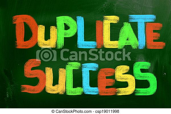 Duplicar el concepto de éxito - csp19011998