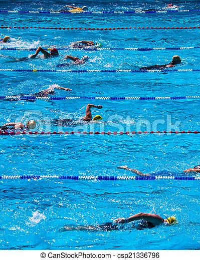durante, triathlon, nadadores - csp21336796