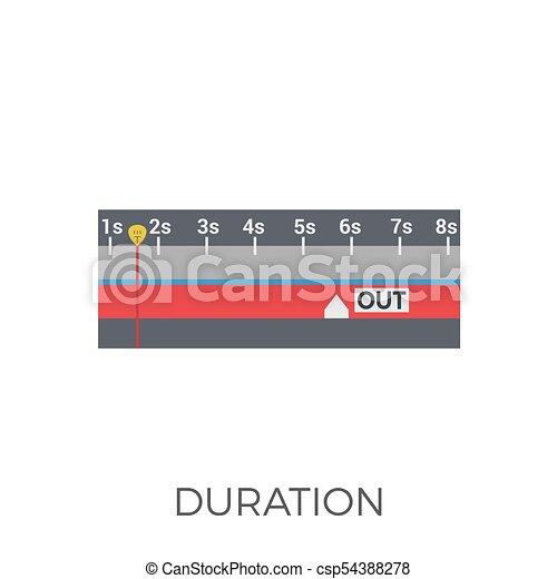 Duration Icon Vector - csp54388278