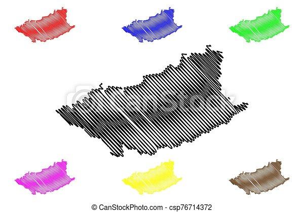 Durazno Department (Departments of Uruguay, Oriental Republic of Uruguay) map vector illustration, scribble sketch Durazno map - csp76714372