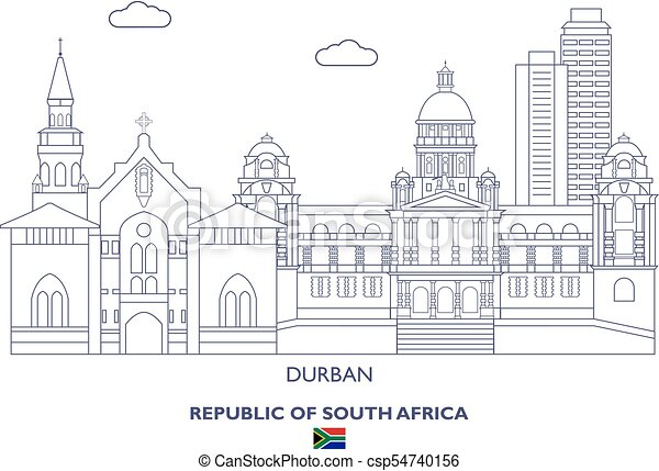 Durban City Skyline, South Africa - csp54740156