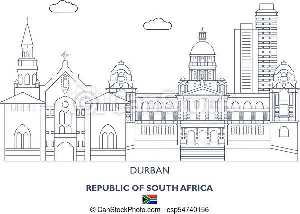 Durban City Skyline, South Africa - csp54740156