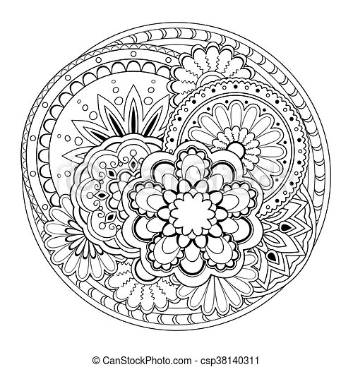 Durcheinandergebracht, mandalas. Keramik, 10, färbende... Vektor ...