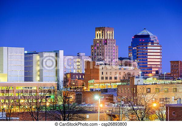 Durham North Carolina Skyline Durham North Carolina Usa Downtown