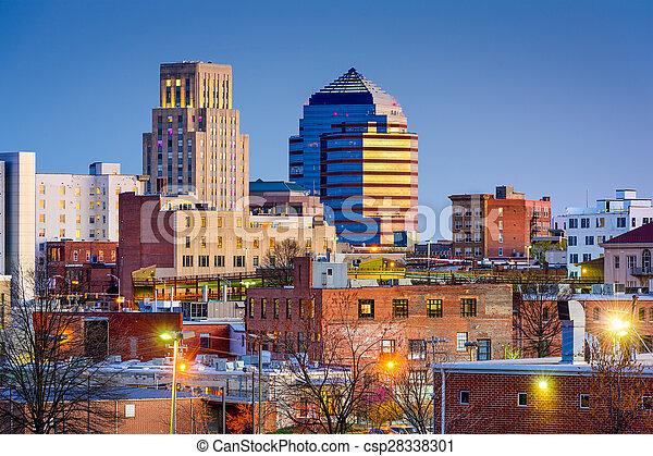 Durham Skyline Durham North Carolina Usa Downtown Skyline