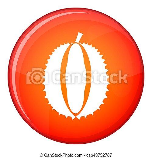 Durian icon, flat style - csp43752787