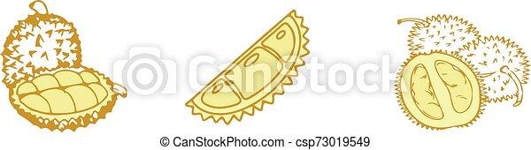 durian icon on white background - csp73019549