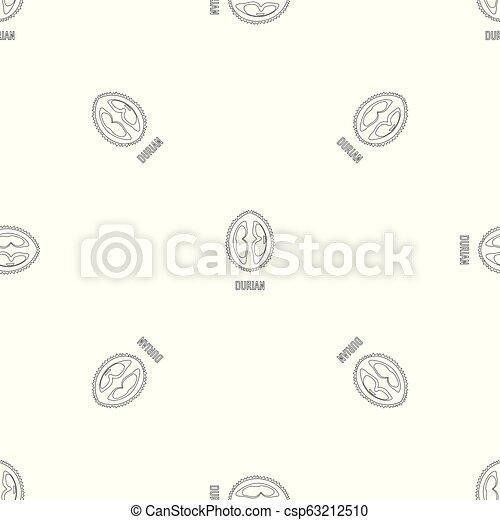 Durian pattern seamless vector - csp63212510