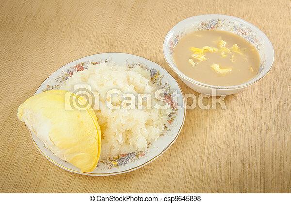 Durian sticky rice - csp9645898