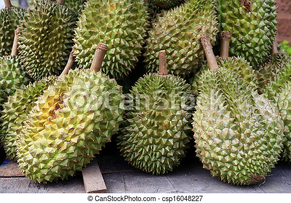Durians, king of the fruits in Thailand  - csp16048227
