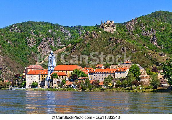 Durnstein on the river danube (Wachau Valley), Austria - csp11883348