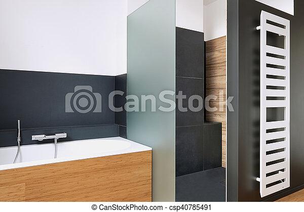 Dusche Badezimmer Badewanne Gekachelt Badezimmer
