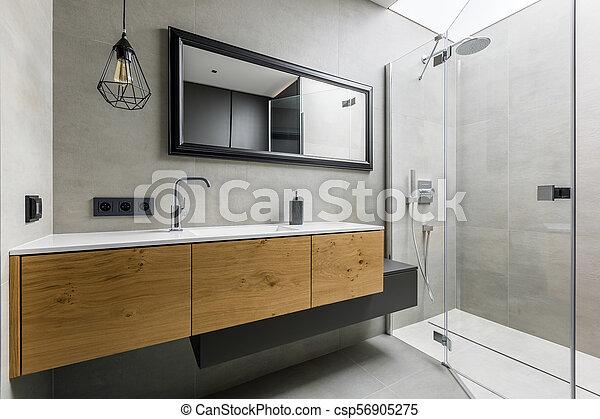 Dusche Badezimmer Modern Graue Badezimmer Countertop Dusche