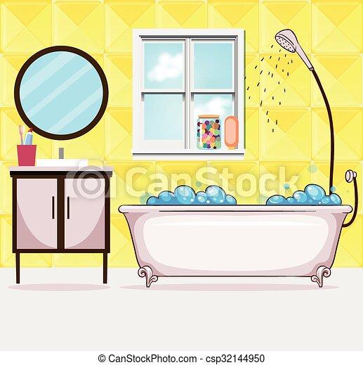 Dusche badezimmer wanne abbildung for Badezimmer clipart