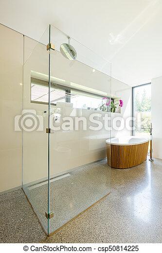 Dusche Glas Badezimmer Modern Badezimmer Holzern Modern