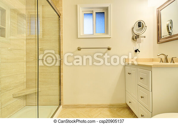 dusche, glas, badezimmer, inneneinrichtung, tür