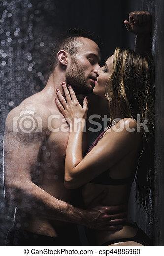 Paar Unter Der Dusche