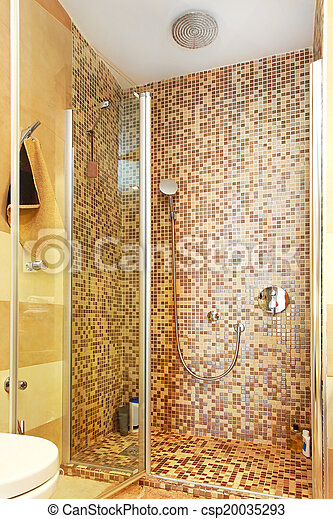 Fliesenmuster Dusche fliesenmuster tür dusche glas kabine mosaik stockfotos suche
