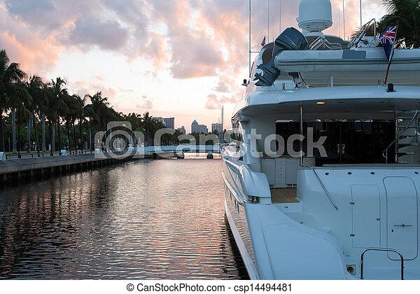Dusk at Fort Lauderdale, Miami - csp14494481