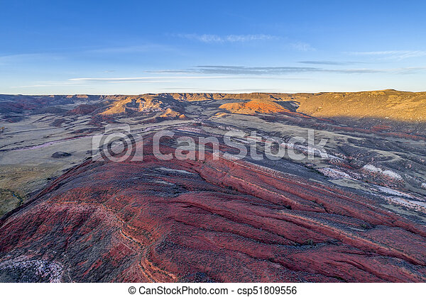 dusk over Colorado foothills - csp51809556