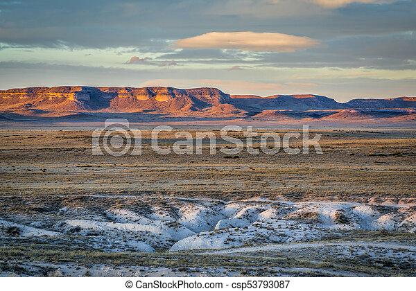 dusk over Colorado prairie - csp53793087