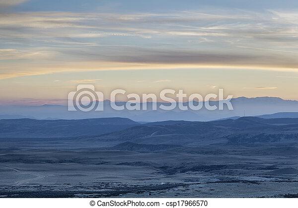 dusk over Rocky Mountains - csp17966570