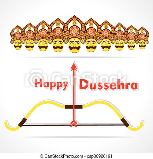 Happy dussehra greeting card design vector dussehra greeting card design csp30920191 m4hsunfo