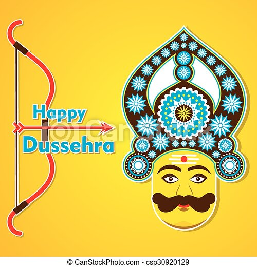Happy dussehra greeting card design vector dussehra greeting card design csp30920129 m4hsunfo