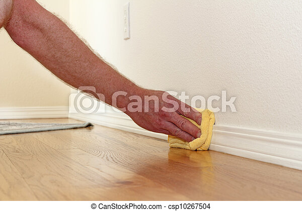 Dusting a Baseboard - csp10267504