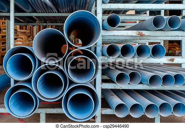 Dusty blue pipe pvc - csp29446490