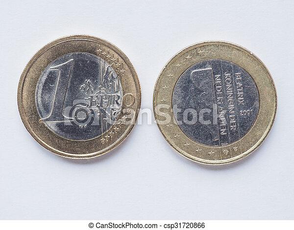 Dutch 1 Euro coin - csp31720866