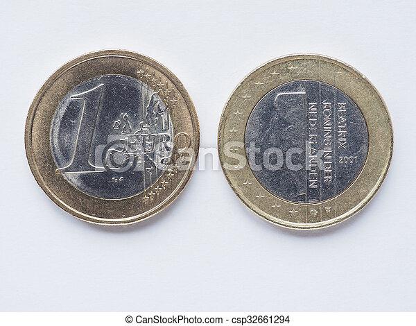Dutch 1 Euro coin - csp32661294