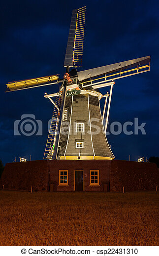 Dutch authentic renovated windmill - csp22431310