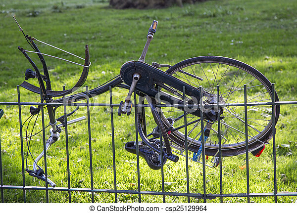 Dutch bicycle transportation - csp25129964
