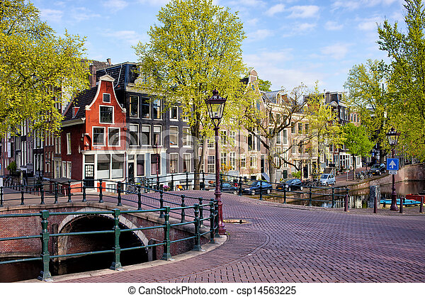 Dutch Canal Houses in Amsterdam - csp14563225