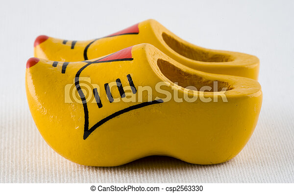 Dutch clogs, traditional wooden shoes