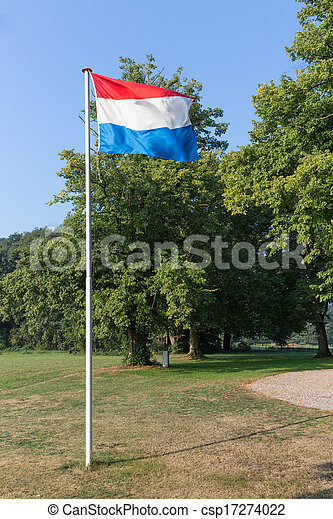 Dutch flag in rural landscape of the Netherlands - csp17274022