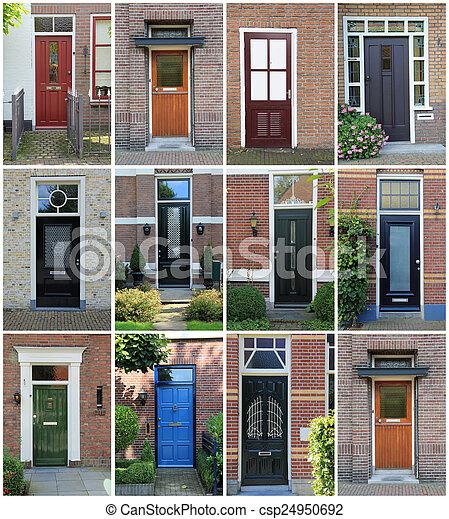 Attractive Dutch Front Doors.   Csp24950692